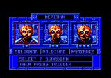 Guardians Amstrad CPC Choose your guardian.