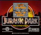 Jurassic Park SNES Title screen.  Game can use SNES mouse.