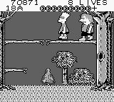 Bart Simpson's Escape from Camp Deadly Game Boy Fight with Nelson