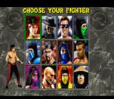 Mortal Kombat II SNES Character select screen.