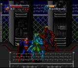 The Death and Return of Superman SNES Superman fighting strange underground mutants.