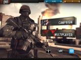 Modern Combat 3: Fallen Nation iPad Main menu