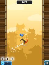 NinJump Deluxe iPad Destroy 3 ninja stars to get a boost