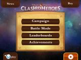 Might & Magic: Clash of Heroes iPad Main Menu