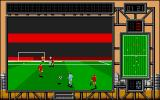 International Soccer Challenge Atari ST Long pass to the striker - hopefully he scores