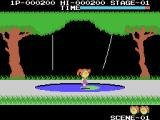 Cabbage Patch Kids Adventures in the Park ColecoVision Crossing a pond