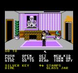 Maniac Mansion NES There's a man eating plant here so wait out!