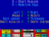 Gunboat ZX Spectrum Main menu