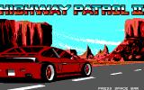 Highway Patrol II DOS Title Screen (EGA)
