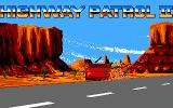 Highway Patrol II Amiga Violator on the red car is driving crazy in introduction