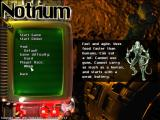 Notrium Windows New game options and race selection.