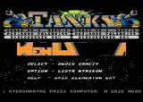 Tanks Atari 8-bit Main menu