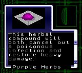 Resident Evil: Gaiden Game Boy Color Purple herbal