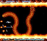 Gradius III SNES After you destroy one head, its attack pattern changes a bit