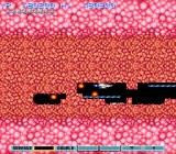 "Gradius III SNES Shooting my way through a wall of cells which ""heals"" when it stops being shot at."