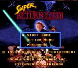 Super Star Wars: Return of the Jedi SNES Title screen