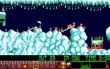 Holiday Lemmings Amiga Working on level 3.
