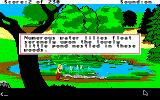 King's Quest IV: The Perils of Rosella Apple IIgs Description of the area.