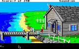 King's Quest IV: The Perils of Rosella Apple IIgs The fisherman's house.