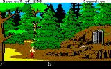 King's Quest IV: The Perils of Rosella Apple IIgs Near the mine entrance.