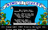 King's Quest Apple IIgs The title screen.
