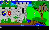 King's Quest Apple IIgs Starting the game outside of King Edward's castle.