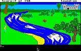 King's Quest Apple IIgs How do I get across the river to get the mushroom?
