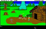 King's Quest Apple IIgs Outside the woodcutter's home.