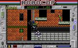 RoboCop Amiga A motorcycle goes over Robocop
