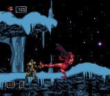 Doom Troopers: Mutant Chronicles SNES He has a regular gun, missile launcher, a kicking and spinning attack