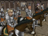 Suikoden III PlayStation 2 Brass Castle garrison is ready for battle.