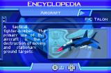 Ace Combat Advance Game Boy Advance Encyclopedia contains information about all aircrafts and weapons you've unlocked