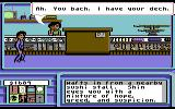 Neuromancer Commodore 64 You need to get your deck out of the hock.