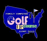 Family Computer Golf: U.S. Course NES Title screen