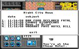 Neuromancer Apple IIgs Checking out the city news online.