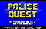Police Quest: In Pursuit of the Death Angel Apple IIgs Title Screen.