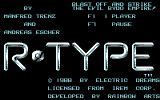 R-Type Commodore 64 Title screen