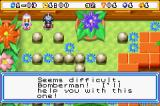 Bomberman Max 2: Blue Advance Game Boy Advance Max helps out on this level