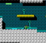 Bionic Commando NES Riding on moving slime