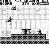 Batman: The Video Game Game Boy On the bricks