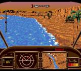 AH-3 Thunderstrike SEGA CD Targeting the enemy in a canyon