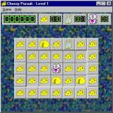 Cheesy Pursuit Windows The game is about to start. This is the mid-sized grid and the action does not start until the player moves