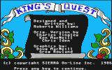 King's Quest Atari ST Title screen