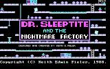 Dr. Sleeptite and the Nightmare Factory DOS Title screen