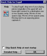 Engulf Windows This optional help text is displayed, by default, when the game loads.