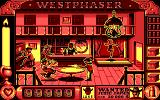 West Phaser DOS Fighting breaks out at the saloon (EGA)
