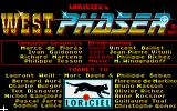 West Phaser Amiga Title screen