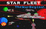 Star Fleet I: The War Begins! Atari ST Title screen