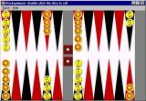 Backgammon Windows The default board at the start of the game
