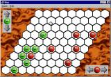Hex Windows A game being played on the maximum sized wall. The strategy is the same but the game takes longer